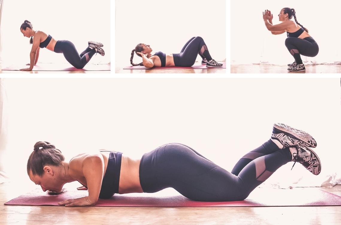 Sportübungen von zu Hause